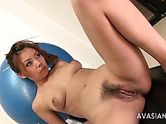 Teen Floozy Dildo Together with..