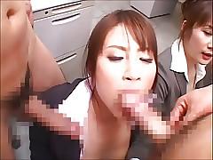 CFNM Bukkake - Japanese..