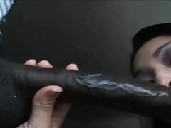 Interracial blowjob! Asian..