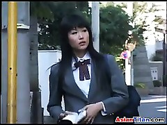 Asian Schoolgirl With an..