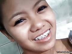 Scrawny tight-bodied Filipina..