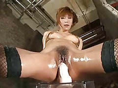 Hot Asian Doll Riding Chunky..