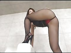 Pantyhose Heels Dissimulation with an..