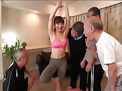 Yoga Trainer Gangbang Be..