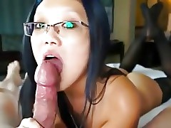 blowjob together with glasses