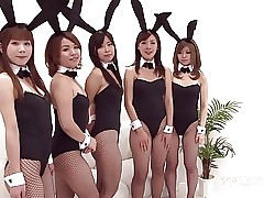 Japanese Bunny Orgy (Uncensored..