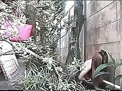 Japanese alfresco masturbating